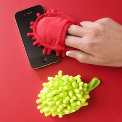 Mini Microfiber Fuzzy Finger Mitt - Face It: The surfaces we touch most (keyboards, phones, PDAs) are the ones we clean the least. Gross! Throw these bright little mitt cleaners in your favorite techie's stocking.