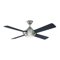 Hampton Bay - Indoor Ceiling Fans: Hampton Bay Moonlight 52 in. Brushed Nickel Ceiling Fan AG9 - Shop for Lighting & Fans at The Home Depot. The Hampton Bay Moonlight 52 in. Brushed Nickel Ceiling Fan is for indoor use in a large room up to 20 ft. x 20 ft. in size. This ceiling fan comes with a 3-speed hand-held remote control for convenient control of light and air flow, and the ceiling fan offers a reversible control for year-round comfort. This ceiling fan has a canopy ring and coupling that conceals exposed screws for a finished look.