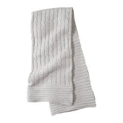 Elegant Baby - Cable Knit Classic Baby Blanket in Gray - Cable Knit Classic Baby Blanket in Gray