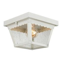 Cornerstone Lighting - Cornerstone Lighting 9102EF Springfield 1 Light Outdoor Flush Mount Ceiling Fixt - Features:
