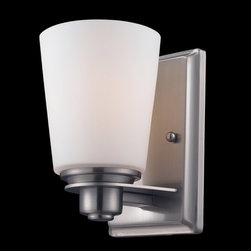 Z-Lite - Z-Lite 2100-1V Nile 1 Light Bathroom Vanity Lights in Brushed Nickel/Matte Opal - This 1 light Vanity from the Nile collection by Z-Lite will enhance your home with a perfect mix of form and function. The features include a Brushed Nickel/Matte Opal finish applied by experts. This item qualifies for free shipping!