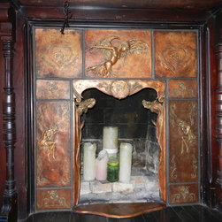 Custom Architectural Ceramic Fireplace - Pistrucci Artworks