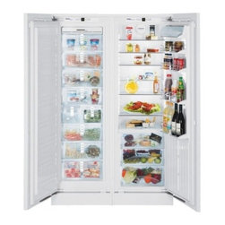 """Liebherr - Premium Plus SBS-19H0 48"""" 18.5 Cu. Ft. Built In Side-By-Side 3 Zone Integrated R - Liebherr custom options let you best compliment the design of your kitchen The Liebherr SBS-19H0 Side-by-Side unit combines the fully integrated 24 inch refrigerator HRB-1110 and 24 inch freezer HF-851 to make a superior full-featured side-by-side fo..."""