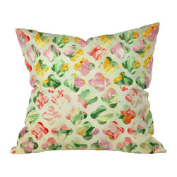 DENY Designs - Arcturus Clover Round Outdoor Throw Pillow, 16x16x4 - Do you hear that noise? It's your outdoor area begging for a facelift and what better way to turn up the chic than with our outdoor throw pillow collection? Made from water and mildew proof woven polyester, our indoor/outdoor throw pillow is the perfect way to add some vibrance and character to your boring outdoor furniture while giving the rain a run for It's money.
