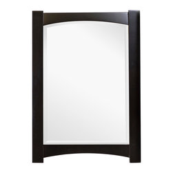 American Imaginations - 24-in. W x 34-in. H Transitional Birch Wood-Veneer Wood Mirror - This transitional wood mirror belongs to the exquisite Elite design series. It features a rectangle shape. This wood mirror is designed to be installed as an wall mount wood mirror. It is constructed with birch wood-veneer. This wood mirror comes with a lacquer-paint finish in Distressed Antique Walnut color. Includes matching back splash This Wood Mirror features White hardware. Can be installed vertically or horizontally. No assembly required. Accessories not included.