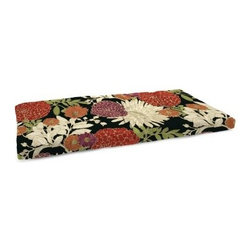 Jordan Manufacturing 12.5 x 38.5 in. Indoor Bench Cushion - Add a floral touch to your indoor bench seating with the Jordan Manufacturing 12.5 x 38.5 in. Indoor Bench Cushion. This stylish cushion is made of durable cotton and features French edgings. It comes in your choice of color and is filled with blown polyester fiber fill. Easy to maintain, use a sponge or soft brush to apply mild soap and warm water to fabric. Rinse thoroughly and allow to air dry.About Jordan ManufacturingA leader in the outdoor industry for over 29 years, Jordan Manufacturing Company, Inc. takes pride in the fact that quality and customer service have always been their top priorities. They realize that their commitment does not end with the sale. This is simply the starting point in a long-running relationship. Jordan believes the customer is the ultimate judge of their products and their customers have proven their loyalty since 1975.