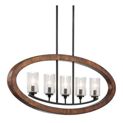"Kichler - Kichler 43186AUB Grand Bank Single-Tier Linear Chandelier 5 Lights - Stem - 36"" - Kichler 43186AUB Linear Chandelier"