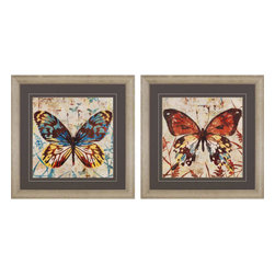 Paragon - Butterfly Beauty PK/2 - Framed Art - Each product is custom made upon order so there might be small variations from the picture displayed. No two pieces are exactly alike.