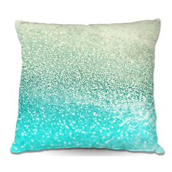 DiaNoche Designs - Pillow Woven Poplin by Monika Strigels Gatsby Mint - Toss this decorative pillow on any bed, sofa or chair, and add personality to your chic and stylish decor. Lay your head against your new art and relax! Made of woven Poly-Poplin.  Includes a cushy supportive pillow insert, zipped inside. Dye Sublimation printing adheres the ink to the material for long life and durability. Double Sided Print, Machine Washable, Product may vary slightly from image.