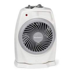 Holmes - Holmes HFH421-U Pivoting Heater Fan - Slender design with an attractive swirl grill offers easy comfort control thermostat and two wattage settings to choose from. Gives you control for maximum heating comfort.