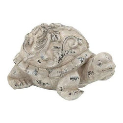 "Benzara - Hand Crafted Garden Turtle with Simple Design - Hand Crafted Garden Turtle with Simple Design. If you are looking to accent the appearance of your garden or pond setting, this Fiber Glass Garden Turtle makes an excellent choice of accessory. It comes with a dimension: 17"" W x 12"" D x 9"" H."