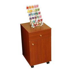Arrow Sewing Cabinet - Arrow Sewing Cabinets 802 Suzi, Four Drawer Sewing Storage Cabinent, Cherry - Your Suzi Storage cabinet has a durable design with composite construction and a vinyl laminate in colors to match every cabinet. Create a matching set in your sewing room, by adding Suzi to any Arrow cabinet Suzi is made of the same material Arrow cabinets are made of, so she will match any existing Arrow cabinet you have. Youll find plenty of storage with four drawers for all your sewing notions Drawer stops prevent Suzis drawers from pulling out too far, but each drawer will glide effortlessly on slides allowing you to reach hard to find items in the back.Need Suzi close at hand or need her out of the way.Suzi will roll in and out of place on her four casters allowing you to place her where ever she is needed the most.