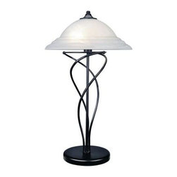 Illumine - Black Glass Lamp: 2-Light Table Lamp Cloud Glass Shade Black Finish CLI-LS409625 - Shop for Lighting & Fans at The Home Depot. The Designer Collection supplied by Commercial Lighting Industries is both modern and stylish, all while maintaining the ability to fuse together many different genres. This collection finds itself at home in many of today's popular design schemes. Whether you're looking for lamps, wall-lighting, pendants, or novelty lamps, the Designer Collection offers a lighting solution that is sure to satisfy any of your lighting needs.