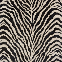 Serengeti SG-05 Zebra Rug - 2'x3' - Serengeti is an elegant collection of hand-tufted rugs that resemble the beautiful animal prints found in the African outback. Gorgeous giraffe, tiger and zebra prints in distinctive color combinations make this group of rugs irresistible. Hand-tufted of 100-percent wool.