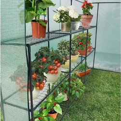 Ogrow - Ogrow Heavy Duty Walk-in Two-tier Portable Lawn and Garden Greenhouse - This greenhouses is affordable,lightweight and easy to assemble,no hardware is needed for assembly. Perfect for your garden,lawn,balcony or patio,the double-sized space gives you even more room to store your plantings.