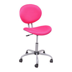 Simple Spin Computer Chairs  Tilting Function Adjustable Swivel Office Chair, Pi - Product Description: