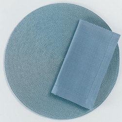 "Origin Crafts - Lt. blue hemstitch napkins set of 4 - Lt. Blue Hemstitch Napkins Set of 4 Napkins & Placemats sold separately. Sets of four. 100% cotton. Machine wash cold separately; tumble dry low. Dimensions: Napkins - 20"" x 20"" By Tag Ltd. - Tag Ltd. is a supplier of decorative accessories. Ships out in 2-3 Business Days."