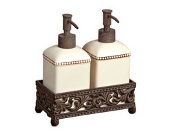 GG Collection - The GG Collection Barcelona Set of Two Soap/Lotion Dispensers - The GG Collection Barcelona Set of Two Soap/Lotion Dispensers