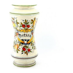 Artistica - Hand Made in Italy - Fruttini: Albarello Vase 'Ortica' - Fruttini: The all new Fruttini Toscana collection features a rich and exclusive design masterfully hand-painted by Tuscan artisans, with festive color combinations and interesting shapes and an historic reproduction of ancient vessels.