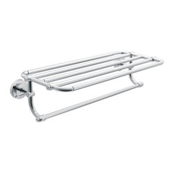 """Moen - Moen DN0794CH Iso 24"""" Towel Shelf in Chrome - Moen DN0794CH Iso 24"""" Towel Shelf in ChromeThe Iso Collection's telescoping machined-metal design infuses industrial elements into European minimalism as it boldly, and beautifully, embraces the future.Moen DN0794CH Iso 24"""" Towel Shelf in Chrome, Features:• Ideal for either commercial or residential use• Extra towel bar give the option for drying or display of additional towels• Dimensions: 26.95"""" W x 10.7 """" D x 6.38"""" H• Shelf/ Towel Bar width: 24""""• Concealed Screw Mounting• Limited Lifetime WarrantySpecification Sheet Moen-DN0794CHManufacturer: MoenModel Number: DN0794CHManufacturer Part Number: DN0794CHCollection: IsoFinish Code: CHFinish: ChromeUPC: 034584015167This product is also listed under the following Manufacturer Numbers and Finish Codes:Moen DN0794CHDN0794CHCreative Specialties DN0794CHProduct Category: Bathroom AccessoriesProduct Type: Hotel Towel Shelf"""