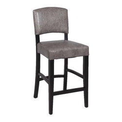 Chintaly Newbourgh Stationary 26 in. Counter Stool - Black - Come home to simple, sophisticated style and comfort. The Chintaly Newbourgh Stationary 26 in. Counter Stool - Black offers an uncomplicated, easy design that enhances its surroundings effortlessly. Crafted with care, the seat and back are covered with high quality, grey, bonded leather, and the frame is made of solid birch wood with a sleek, black finish. This stationary stool arrives fully assembled, so you can start enjoying it right away.About Chintaly ImportsBased in Farmingdale, New York, Chintaly Imports has been supplying the furniture industry with quality products since 1997. From its humble beginning with a small assortment of casual dining tables and chairs, Chintaly Imports has grown to become a full-range supplier of curios, computer desks, accent pieces, occasional table, barstools, pub sets, upholstery groups and bedroom sets. This assortment of products includes many high-styled contemporary and traditionally-styled items. Chintaly Imports takes pride in the fact that many of its products offer the innovative look, style, and quality which are offered with other suppliers at much higher prices. Currently, Chintaly Imports products appeal to a broad customer base which encompasses many single store operations along with numerous top 100 dealers. Chintaly Imports showrooms are located in High Point, North Carolina and Las Vegas, Nevada.