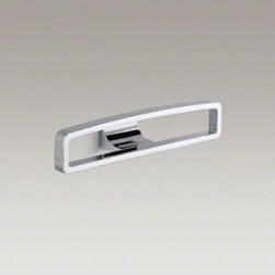 "KOHLER - KOHLER Loure(R) 12"" rectangular robe hook - Loure offers thoughtful and versatile accessories that coordinate with a wide range of contemporary faucets and interiors. This robe hook features a unique rectangle shape with slightly rounded top corners, providing a convenient place for hanging your ro"
