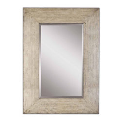 "Uttermost - Langford Natural Wood Mirror - This Stately Mirror Features A Generous 10"" Wide Frame With A Heavily Distressed Natural Wood Finish And A Light Gray Wash. Mirror Has A Generous 1 1/4"" Bevel.; Collection: Langford; Designer: Carolyn Kinder; Material: Wood & Glass & Plywood; Finish: Heavily Distressed Natural Wood With A Light Gray Wash.; Mirror: 0.187""D x 30""W x 50""H; Dimensions: 2""D x 50.5""W x 70.5""H; Uttermost's Mirrors Combine Premium Quality Materials With Unique High-style Design.; With The Advanced Product Engineering And Packaging Reinforcement, Uttermost Maintains Some Of The Lowest Damage Rates In The Industry. Each Product Is Designed, Manufacturered And Packaged With Shipping In Mind."