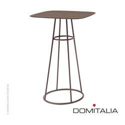 Domitalia Barrique Bar Table Walnut/Bronze - Domitalia Barrique Bar Table Walnut/Bronze