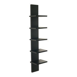 Danya B. - Utility Column Spine Wall Shelf - These shelves are definitely on the straight and narrow! Sleek, clean and compact, they're the perfect resting places for stacks of CDs, photo frames, various curios — and maybe even a few of your favorite books.