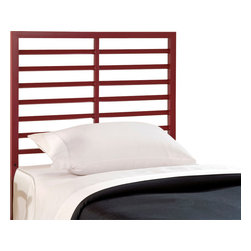 Hillsdale Furniture - Hillsdale Latimore Twin Headboard in Red - Our Latimore Bed offers chic, modern style in an affordable package. Available in charcoal black, glossy red, metallic silver or white. The ladder-back inspired bed or headboard bring a contemporary visual statement to the bedroom. The Latimore is available in all finishes in twin, and  full, queen and king sizes in charcoal black only.