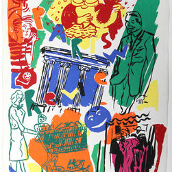 Kim MacConnel, Paris Review, Silkscreen - Artist:  Kim MacConnel, American (1946 - )