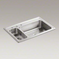 KOHLER | K-3347L-3 | Toccata Top-Mount Kitchen Sink with Three Faucet Holes