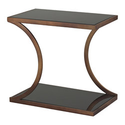 Sterling - Sterling 137-020 Misterton Rectangle Side Table With Curved Legs By Sterling - Sterling 137-020 Misterton Rectangle Side Table With Curved Legs By Sterling