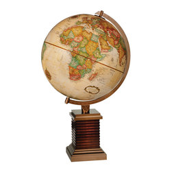 "Replogle - Glencoe Desktop World Globe - This 12"" desktop world globe is a part of Frank Lloyd Wright Collection� Globes."