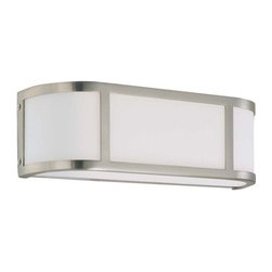 "Nuvo Lighting - Nuvo Lighting 60/3802 Two Light Ambient Lighting 15.5"" Wide Bathroom Fixture fro - Classically modern. Odeon's design reflects the Art Deco style and its geometric origins. The chandeliers in this collection may be installed with arms in the up or down position (see 60/3829 to see both configurations). Flush drums and other fixtures utilize unseen mounting hardware for a clean appearance."