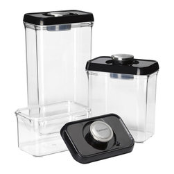 Cuisinart - Cuisinart Fresh Edge 6-Piece Vacuum Sealed Food Storage Containers - Food storage containers and lids with built-in vacuum pump