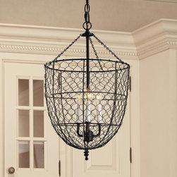 Chicken Wire Smokebell Lantern -