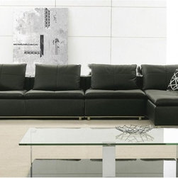 Axri Modern Leather Sectional - Bring an ultra modern, versatile and comfortable center piece to your decor with this Axri Modern Leather Sectional.