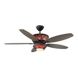 Designers Choice Collection - Indoor Ceiling Fans: Designers Choice Collection Mocha 52 in. Oil Rubbed Bronze - Shop for Lighting & Fans at The Home Depot. The exquisite composition of the Designers Choice Collection MOCHA 52 in. Ceiling Fan enriches your living space with warm but modern style. An Oil Rubbed Bronze finish complimented by an integrated Mocha glass light kit with matching glass motor housing and Moonglow Uplighting completes the ensemble. A full-function wall mounted Remote Control with pull-out transmitter, independent Up & Down light dimmers, 3 speeds, and Reverse is also included.