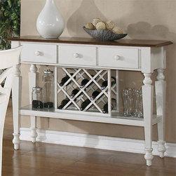 Ashley White & Oak Wine Rack/Server -
