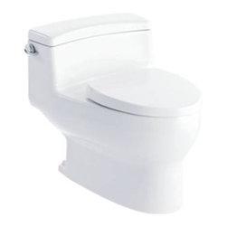 INAX Napa Single Flush 1.28GPF High Efficiency One-Piece Toilet NC-440S-US - Double vortex flush