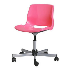 Snille Swivel Chair, Pink - I have this hot pink swivel chair at my sewing desk. I love that pop of happy color every time I see it.
