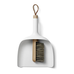 MENU - Sweeper and Dustpan, White - Sweeper and Dustpan is so simple in its core idea, that it becomes almost brilliant – it's the kind of design you wish you'd thought of yourself, and the obvious value of the design makes people wonder why no one has thought of this before.