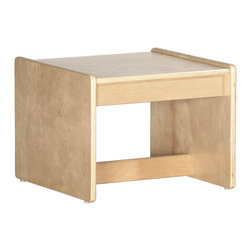 Ecr4kids - Ecr4Kids Birch Living Room End Table - A durable birch hardwood end table sized for young children. Designed for use with the ECR4Kids Living Room Set items.