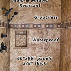 Traditional Showers by West Coast Marble & Granite