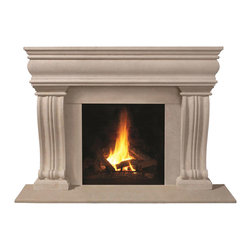 Omega Mantels & Mouldings Ltd - 1106.536 cast stone mantel, Taupe Open Cast - This unique design will help you achieve the look you desire.