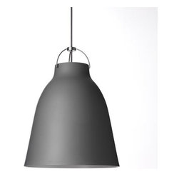 Lightyears - Caravaggio Matte Grey Pendant Light   Lightyears - Design by Cecilie Manz, 2011.Since its launch in 2005, the Caravaggio range has become known and loved for its distinctive and dramatic figure. The Matte Grey finish was added as a natural extension to the simple and timeless Caravaggio Collection. Its modest and unpretentious appearance allows the pure lines and soft shapes of the design speak for themselves. The matte finish adds a rare depth and tangibility to the shade, imbuing it with a warm, cozy feel.
