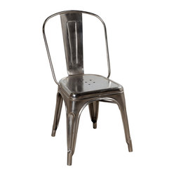 Spencer Chair - Shiny Nickel - Product Features: