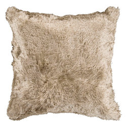 "Surya Candice Olson SCO301-2222P 100% Polyester 22"" x 22"" Decorative Pillow - It's soft texture and bright sheen make this stylish pillow the perfect addition to any space. The color safari tan accents this decorative pillow. This pillow contains a poly fill and a zipper closure. Add this 22"" x 22"" pillow to your collection today. Filler: Poly Fiber. Shape: Square."