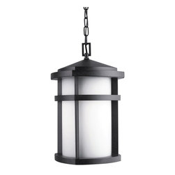 KICHLER - KICHLER 9567GNT Lantana Soft Contemporary/Casual Lifestyle Outdoor Hanging Light - The Lantana™ collection of outdoor lighting is handsomely stylish with solidly defined lines and done in Textured Granite finish and Etched Opal glass. This 1 light outdoor pendant uses a 150-W (M) lamp and is For additional chain, order KCH-4927-AZ. U.L. listed for damp location. U.S. Patent Pending.